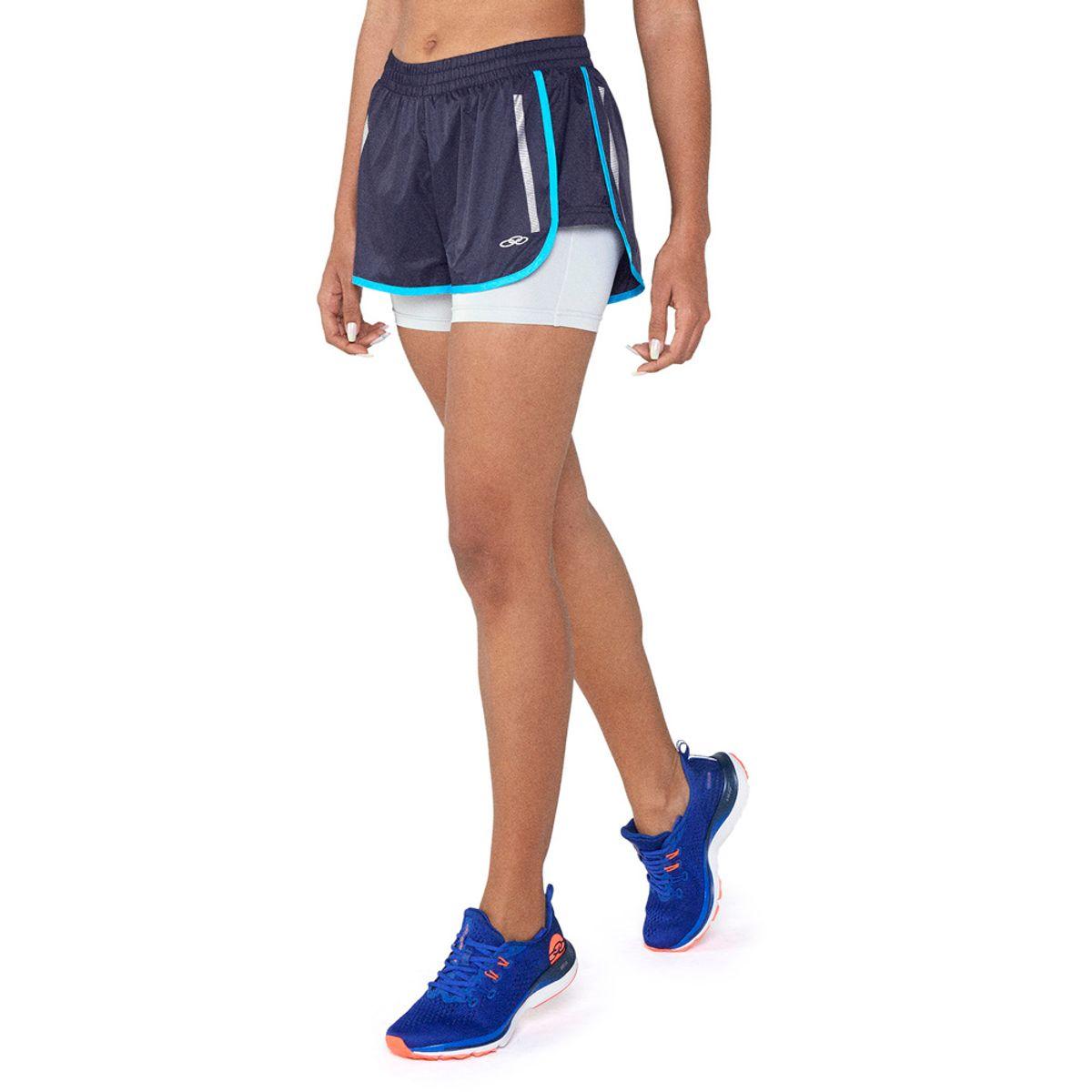 Shorts de Corrida Feminino Run Line Olympikus